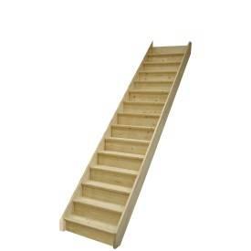 Escalier sapin droit