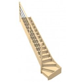 Escalier quart tournant bas...