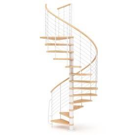 Escalier colimaçon bois...