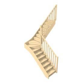 Escalier quart tournant...