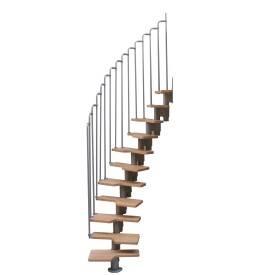 Escalier modulable faible encombrement  à pas décalés