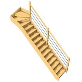 Escalier Bavat hêtre +...