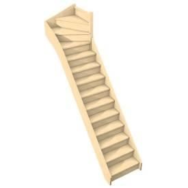Escalier quart tournant haut