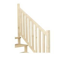 Escalier hélicoïdal en sapin