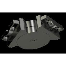 Raccord horizontal pour main courante alu 80*30 mm