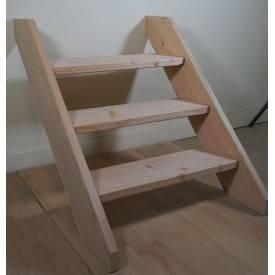 Escalier droit extérieur en bois de douglas ou mélèze