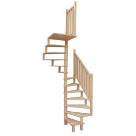 Escalier hélicoïdal en hêtre
