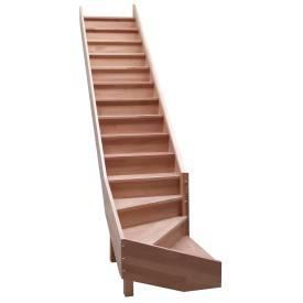 Escalier 1/4 tournant bas hêtre