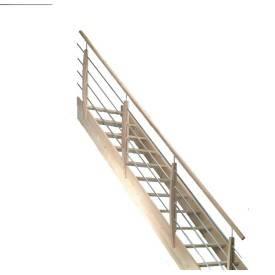 escalier quart tournant rampe à lisses alu