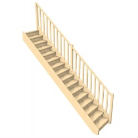 escalier doit confortable Rampe bois à fuseau