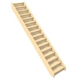 Escalier droit confortable